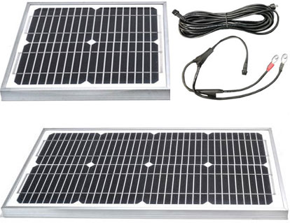 Optional Solar Panels 10W and 20W